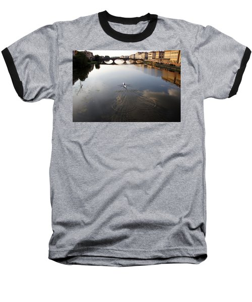Solitary Sculler Baseball T-Shirt