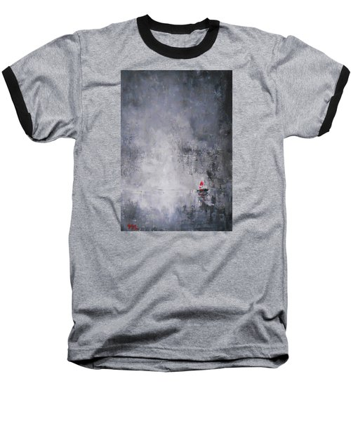 Baseball T-Shirt featuring the painting Solitude 2 by Jane  See
