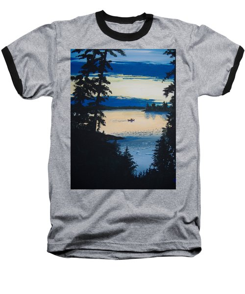 Solitude Baseball T-Shirt by Norm Starks