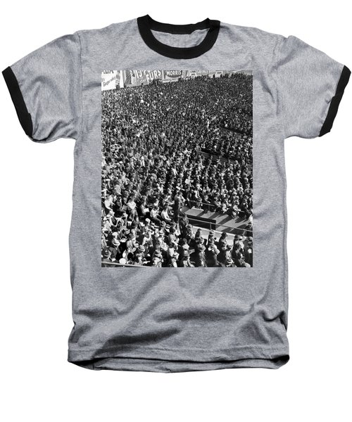 Baseball Fans At Yankee Stadium In New York   Baseball T-Shirt by Underwood Archives