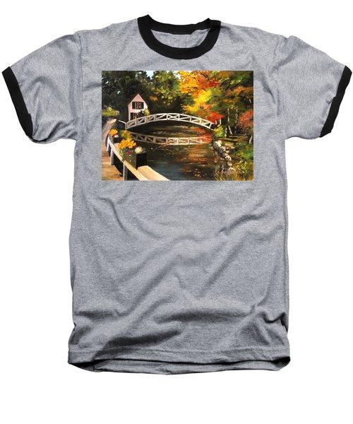 Somesville Maine Footbridge Baseball T-Shirt by Eileen Patten Oliver