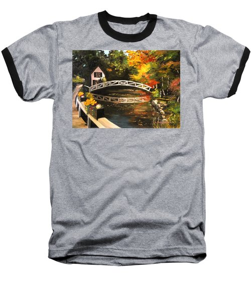 Somesville Maine Footbridge Baseball T-Shirt