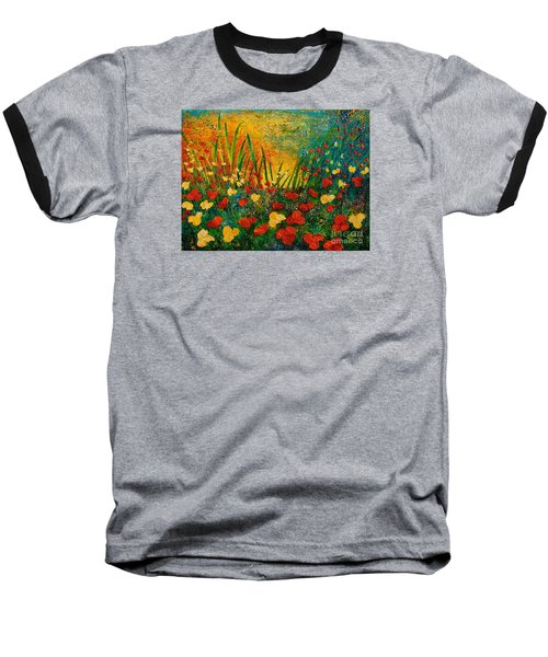 Something I Love Baseball T-Shirt by Teresa Wegrzyn