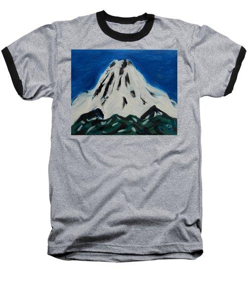 Somewhere Rainier Baseball T-Shirt by David Trotter