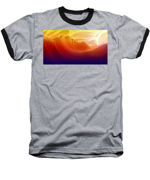Baseball T-Shirt featuring the photograph Somewhere In America Series - Colorful Light In Antelope Canyon by Lilia D