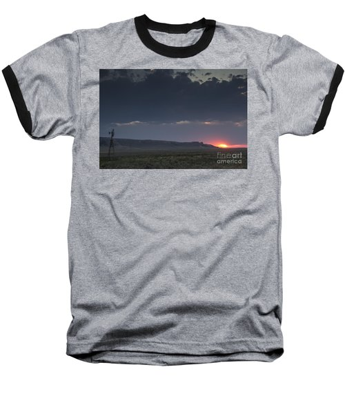 A Sunset Somewhere In Wyoming Baseball T-Shirt