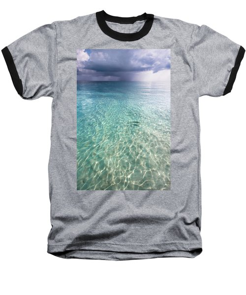 Somewhere Is Rainy. Maldives Baseball T-Shirt by Jenny Rainbow