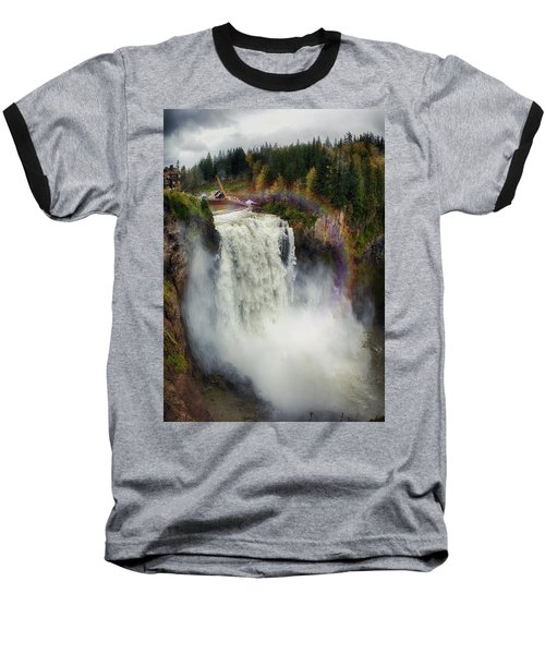 Somewhere Over The Falls Baseball T-Shirt