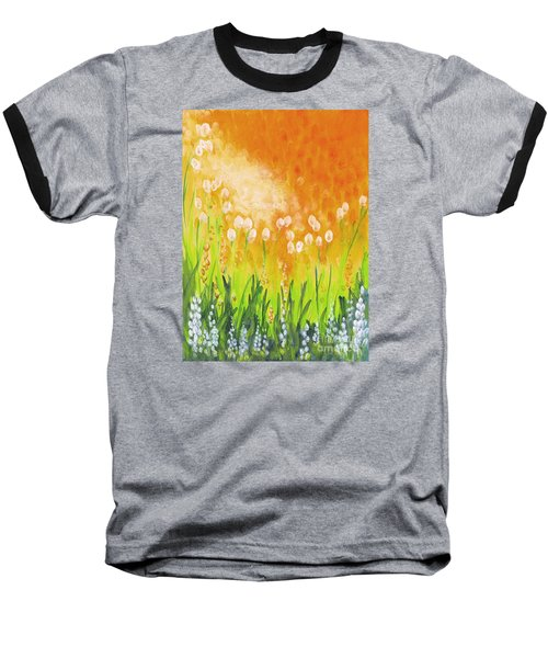 Baseball T-Shirt featuring the painting Sonbreak by Holly Carmichael