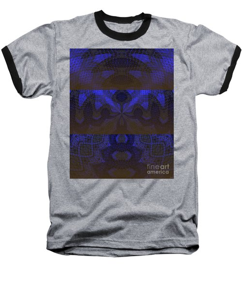 Baseball T-Shirt featuring the painting Sonic Temple by Roz Abellera Art