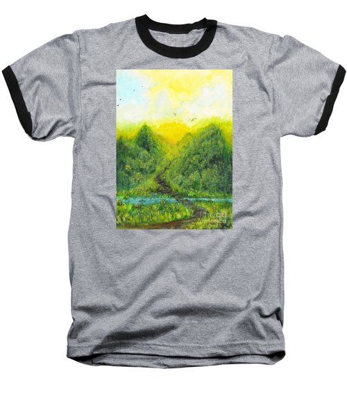 Baseball T-Shirt featuring the painting Sonsoshone by Holly Carmichael