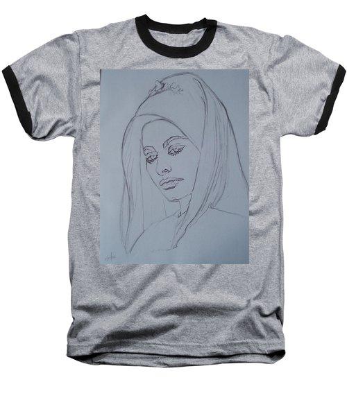 Sophia Loren In Headdress Baseball T-Shirt by Sean Connolly