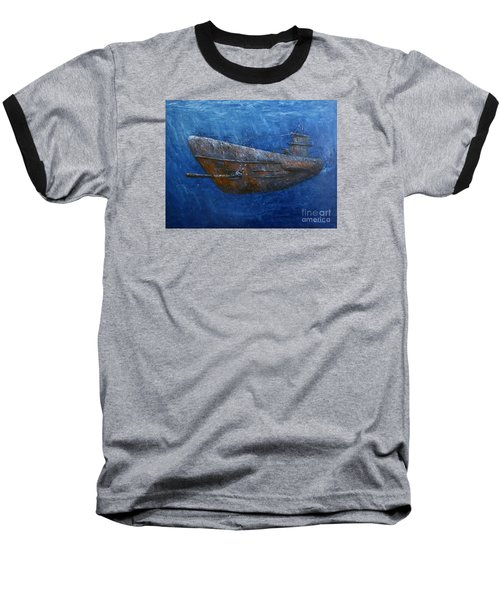Baseball T-Shirt featuring the painting Soul Hunter by Arturas Slapsys
