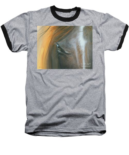 Baseball T-Shirt featuring the painting Soul Within by Mike Brown