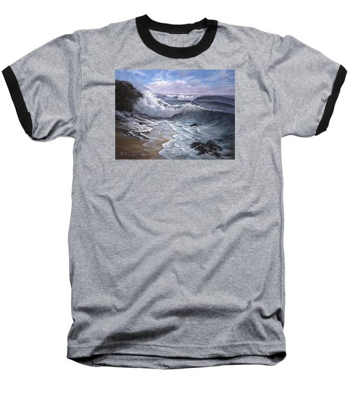 Sounding Waves At Big Sur Baseball T-Shirt
