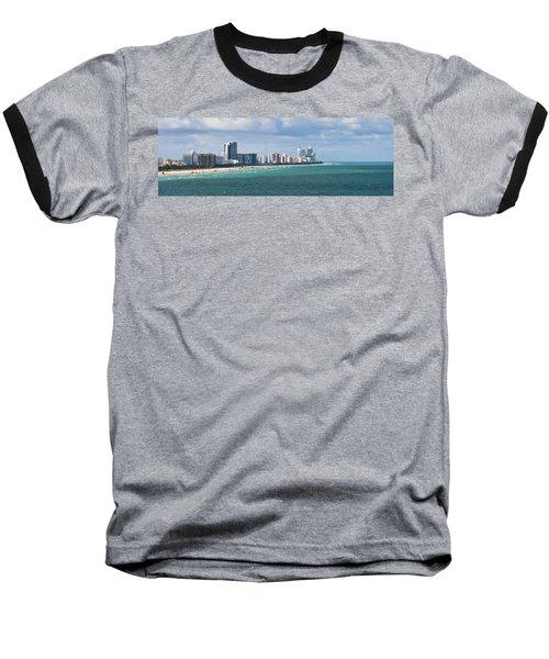 South Beach On A Summer Day Baseball T-Shirt