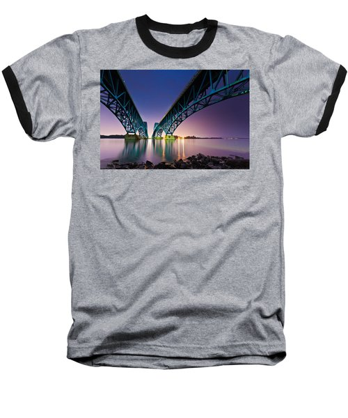 South Grand Island Bridge Baseball T-Shirt