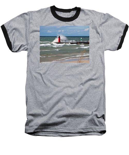 South Haven Splash Baseball T-Shirt by Ann Horn