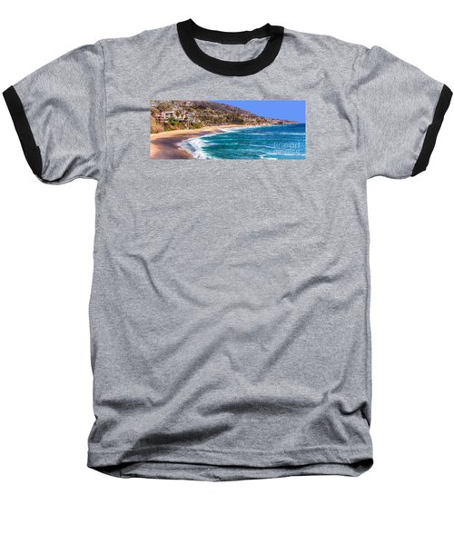 South Laguna Beach Coast Baseball T-Shirt by Jim Carrell