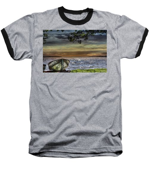South Manistique Lake With Rowboat Baseball T-Shirt
