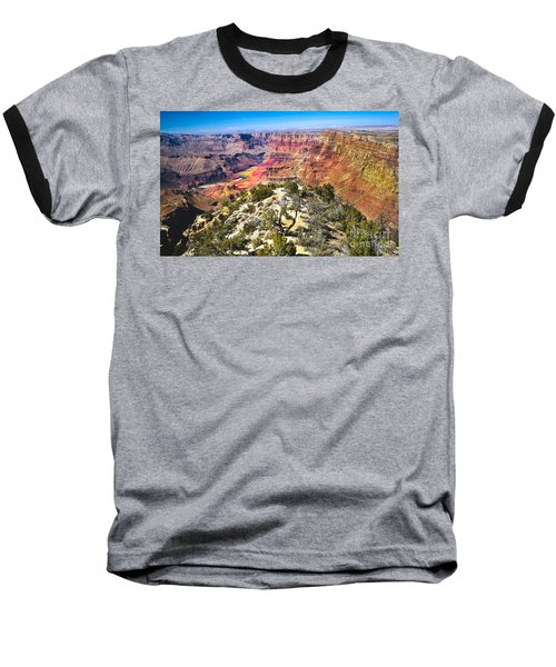 South Rim From The Butte Baseball T-Shirt by Robert Bales
