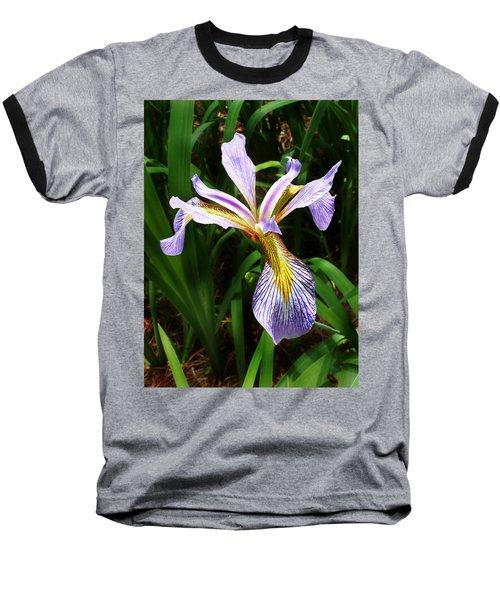Southern Blue Flag Iris Baseball T-Shirt