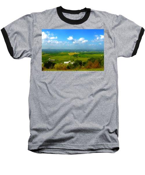 Southern Illinois River Basin Farmland Baseball T-Shirt