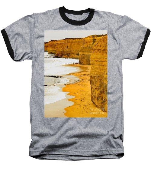 Southern Ocean Cliffs Baseball T-Shirt