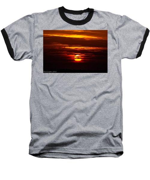Southern Sunset Baseball T-Shirt by Shannon Harrington