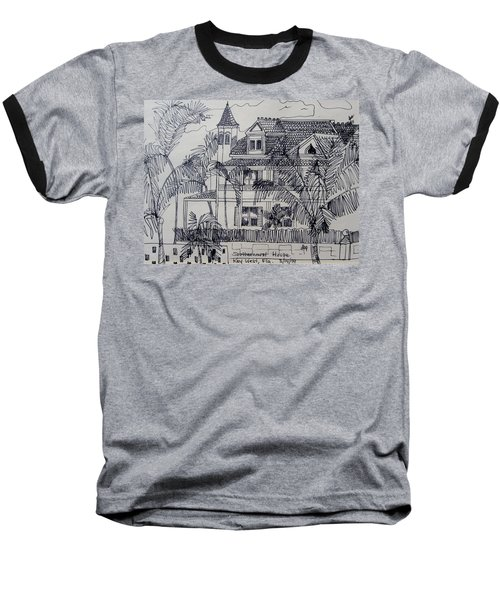 Southernmost House  Key West Florida Baseball T-Shirt by Diane Pape