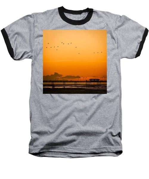 Southport Pier At Sunset Baseball T-Shirt