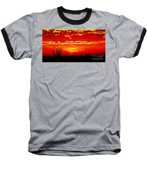 Southwest Sunset Baseball T-Shirt by Robert Bales