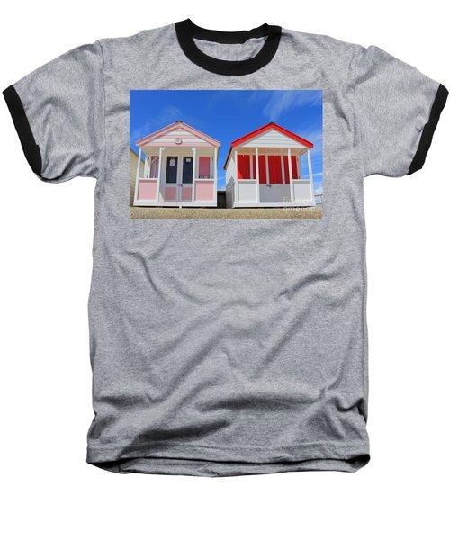 Southwold Beach Huts Baseball T-Shirt