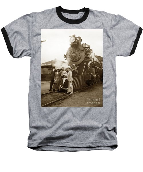 S P Baldwin Locomotive 2285  Class T-26 Ten Wheel Steam Locomotive At Pacific Grove California 1910 Baseball T-Shirt