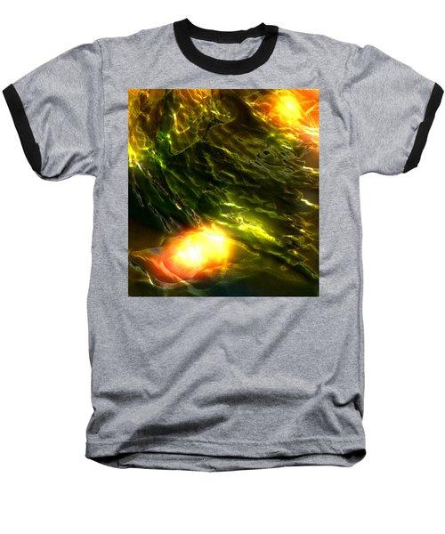 Space Fall Baseball T-Shirt by Richard Thomas