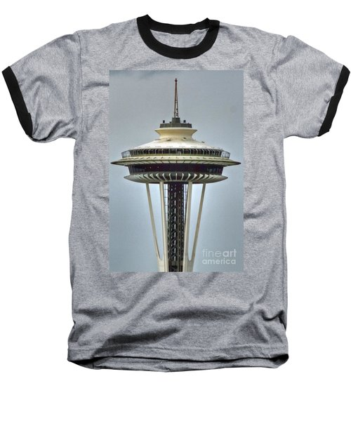 Space Needle Tower Seattle Washington Baseball T-Shirt