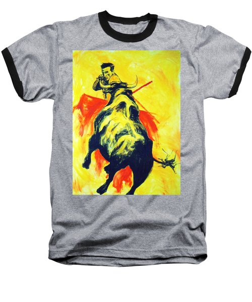 Spanish Bullfight Baseball T-Shirt