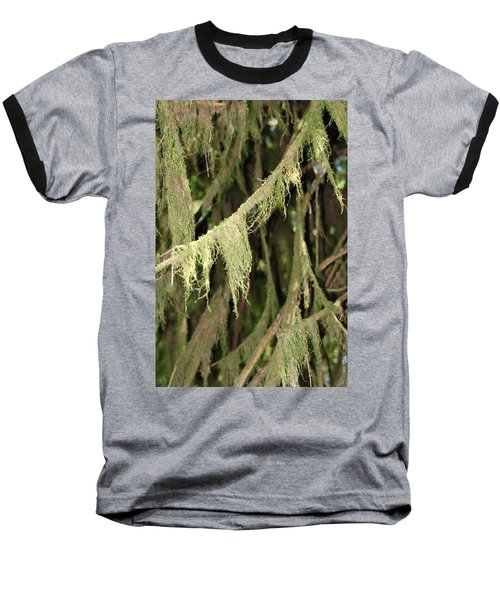 Spanish Moss In Olympic National Park Baseball T-Shirt by Connie Fox