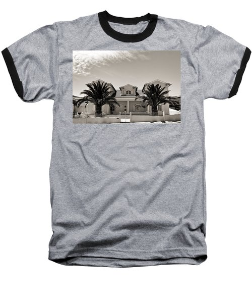 Spanish Village With Palm Trees Baseball T-Shirt