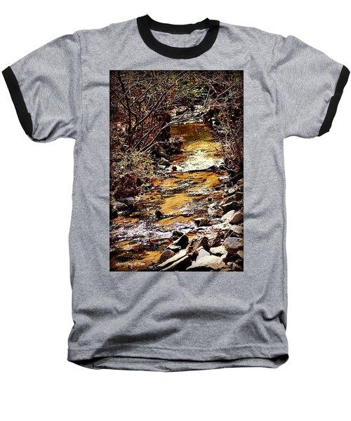Baseball T-Shirt featuring the photograph Sparkling Creek by Tara Potts