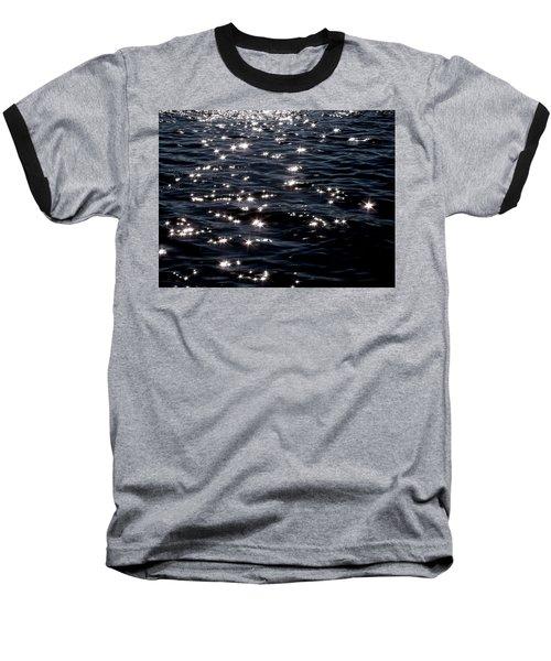 Sparkling Waters At Midnight Baseball T-Shirt
