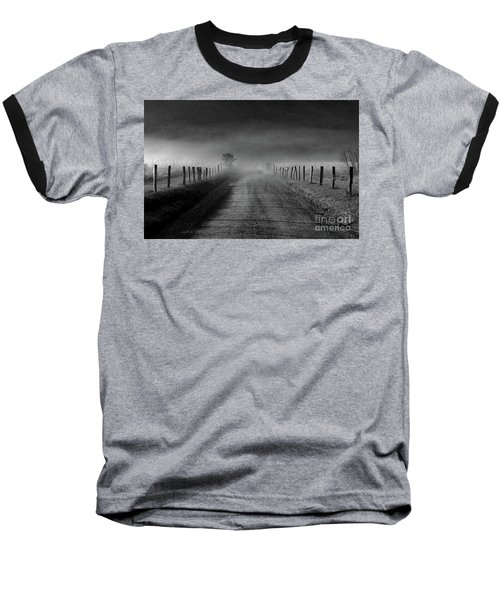 Sparks Lane In Black And White Baseball T-Shirt by Douglas Stucky