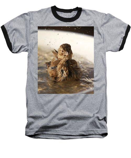 Sparrow Bathing Baseball T-Shirt