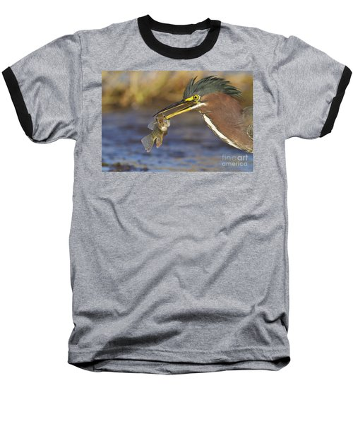Baseball T-Shirt featuring the photograph Speared by Bryan Keil