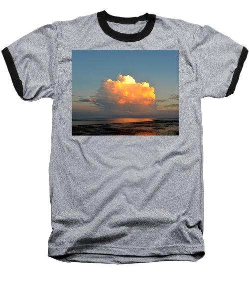 Spectacular Cloud In Sunset Sky Baseball T-Shirt