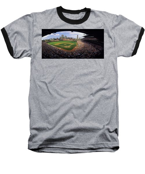 Spectators In A Stadium, Wrigley Field Baseball T-Shirt by Panoramic Images