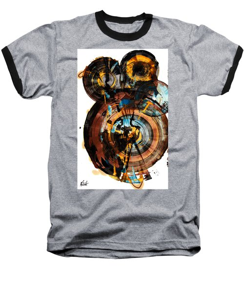 Baseball T-Shirt featuring the painting Spherical Happiness Series - 994.042212 by Kris Haas