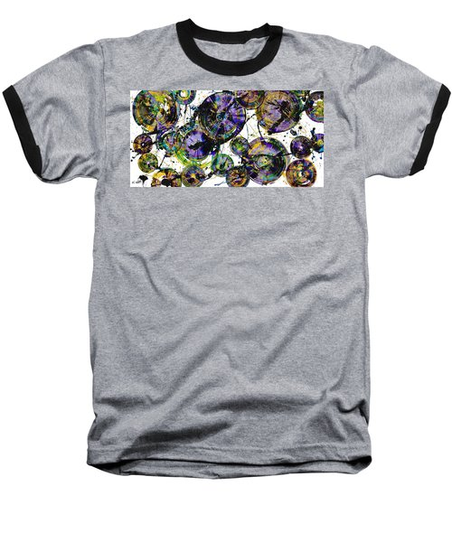 Baseball T-Shirt featuring the painting Spherical Purple Haze - 1510.021413 by Kris Haas