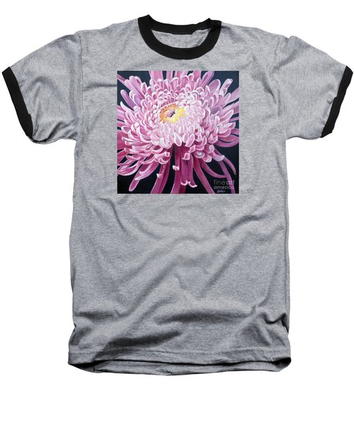 Baseball T-Shirt featuring the painting Spider Mum by Debbie Hart