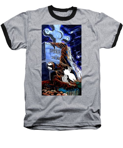 Spider Resurrection Painting Baseball T-Shirt by Justin Moore